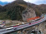 四川雅西高速姚河坝大桥新进展 春节前完成重建