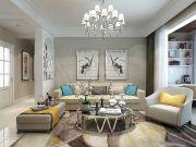 玫瑰公馆110平简约风格三居室装修,轻装修重装饰!