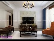 财富中心三期140平三室两厅简美风格装修