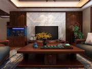 金如意花园三室两厅古典中式效果图与实景图对比