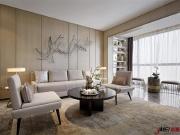 大连青云天下极简装修风格—171平三室两厅实景案例—杰美出品