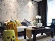 潍坊金銮御景城124平中式装修-沙发背景墙美出了天际!