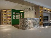 美巢瀚宇天悦湾142平三室装修设计 吧台品酒区空间比餐厅还大