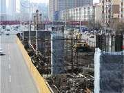 南直路高架桥开始墩柱施工