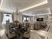 华天雨润装饰保利天珺4室2厅3卫150㎡法式风格 情迷法兰西