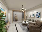 120平现代简约风格国花园三室装修,简单实用,色调要温馨