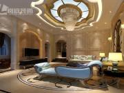 曙光国际-5室3厅3卫-310㎡欧式风格装修案例