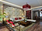 天津华侨城纯水岸4室2厅2卫163㎡中式风格