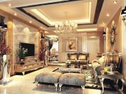 城置尚豪庭-2室2厅1卫-110㎡欧式风格装修案例