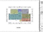 馨达园3室2厅1卫140㎡美式风格