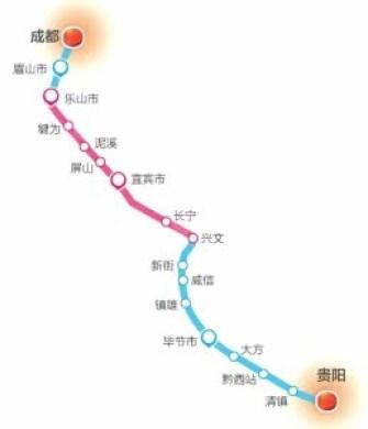 成贵铁路预计年内开通! 乐山至兴文段进入运行试验阶段