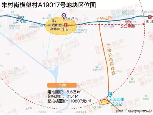 朱村放出6.6万㎡宅地,远离地铁地价过万,房企将如何抉择?