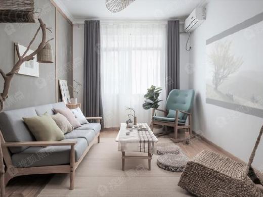西安89平老房翻新北欧日式装修,回归原木生活本色惬意生活