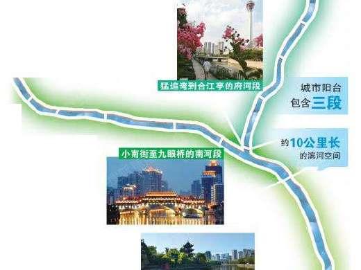 """成都市中心再出新规划 打造10公里滨河""""城市阳台"""""""