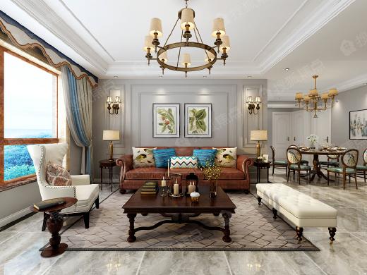 【致界装饰】上和树装修设计方案 4室2厅1卫130㎡轻奢简美