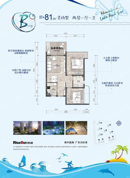 荣盛山湖海户型 荣盛山湖海花园售楼部西安展销中心插图(6)